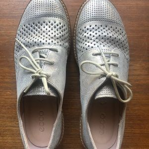 Ecco Gold Nubuck Oxford shoes sneakers 8